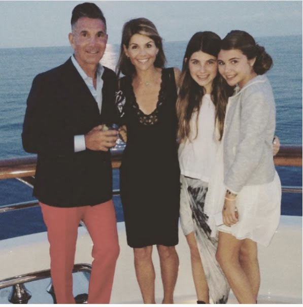 Mossimo Giannulli and Lori Loughlin with Daughters