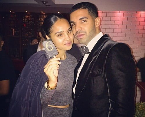 Drake's Girlfriend, Dad, Sister and Mom