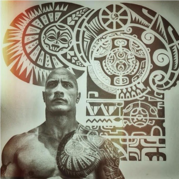 Dwayne Johnson's Tattoos And His House