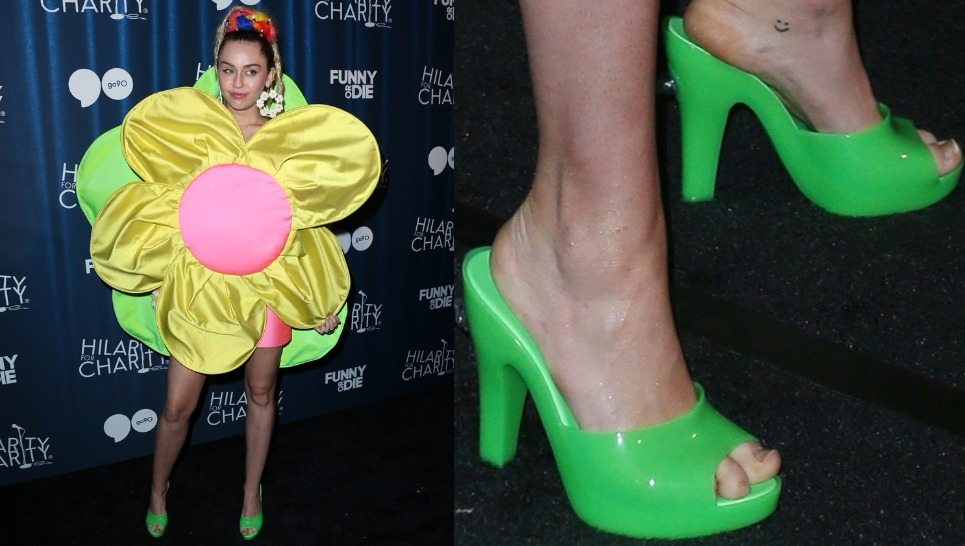 Miley Cyrus Feet, Shoe Size and Shoe Collection