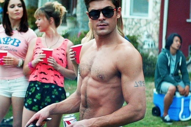 Zac Efron's Hairstyle, Tattoo, And Abs