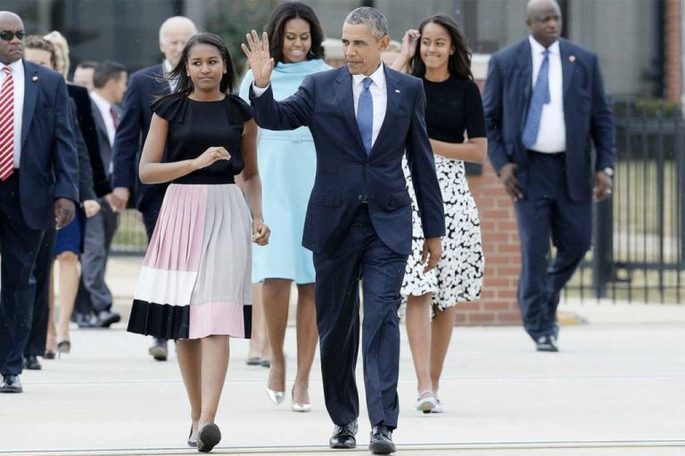 Barack Obama's Daughters And Parents